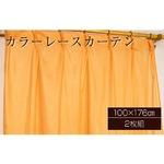 カラーレースカーテン 2枚組 100×176 オレンジ ミラーレース 見えにくい 洗える アジャスターフック付き セルバ2の詳細ページへ