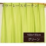 カラーレースカーテン 2枚組 100×133 グリーン ミラーレース 見えにくい 洗える アジャスターフック付き セルバ2の詳細ページへ