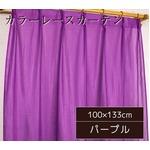 カラーレースカーテン 2枚組 100×133 パープル ミラーレース 見えにくい 洗える アジャスターフック付き セルバ2の詳細ページへ