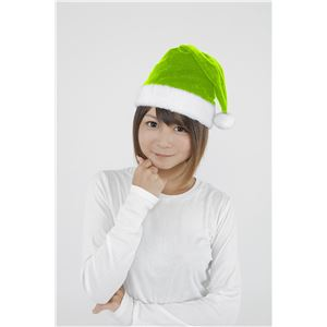 【クリスマスコスプレ】サンタ帽子 ライトグリーン