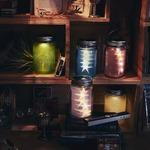 ソーラー充電式ライト Glass Jar -frost-(ガラスジャー フロスト) グリーンの詳細ページへ
