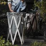Laundry Hamper(ランドリーハンパー) グレー×ナチュラルの詳細ページへ