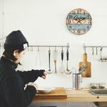 モチーフクロック/壁掛け時計 【Lサイズ/メルボルン】 直径33cmの詳細ページへ