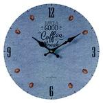 モチーフクロック/壁掛け時計 【Lサイズ/COFFEE BREAK-blue- コーヒー ブレイク ブルー】 直径33cmの詳細ページへ