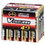 (業務用20セット) オーム電機 アルカリ乾電池 単4形20本 LR03/S20P/Vの詳細ページへ