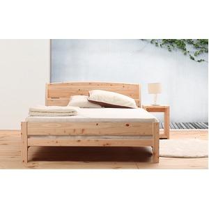 国産 宮付き ひのき すのこベッド(フレームのみ)シングル 無塗装