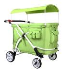 保育園 幼稚園 お散歩用 ベビーカー Familidoo(ファミリードゥー) 軽量・オートブレーキ付き・6人乗りデザインモデル グリーン 緑の詳細ページへ