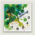 壁掛け時計/デザインクロック 【ハニカム】 30cm角 アクリル素材 『MYCLO』 〔インテリア雑貨 贈り物 什器〕の詳細ページへ