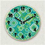 壁掛け時計/デザインクロック 【グリーンポップ】 直径30cm 木材/メープル調素材 『MYCLO』 〔インテリア雑貨 贈り物 什器〕の詳細ページへ