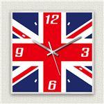 壁掛け時計/デザインクロック 【イギリス国旗】 30cm角 アクリル素材 『MYCLO』 〔インテリア雑貨 贈り物 什器〕の詳細ページへ
