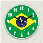 壁掛け時計/デザインクロック 【ブラジル国旗】 直径30cm アクリル素材 『MYCLO』 〔インテリア雑貨 贈り物 什器〕の詳細ページへ