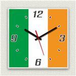 壁掛け時計/デザインクロック 【アイルランド国旗】 30cm角 アクリル素材 『MYCLO』 〔インテリア雑貨 贈り物 什器〕の詳細ページへ
