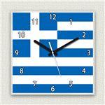 壁掛け時計/デザインクロック 【ギリシャ国旗】 30cm角 アクリル素材 『MYCLO』 〔インテリア雑貨 贈り物 什器〕の詳細ページへ