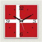 壁掛け時計/デザインクロック 【デンマーク国旗】 30cm角 アクリル素材 『MYCLO』 〔インテリア雑貨 贈り物 什器〕の詳細ページへ