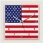 壁掛け時計/デザインクロック 【アメリカ国旗】 30cm角 アクリル素材 『MYCLO』 〔インテリア雑貨 贈り物 什器〕の詳細ページへ