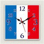 壁掛け時計/デザインクロック 【フランス国旗】 30cm角 アクリル素材 『MYCLO』 〔インテリア雑貨 贈り物 什器〕の詳細ページへ