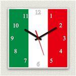 壁掛け時計/デザインクロック 【イタリア国旗】 30cm角 アクリル素材 『MYCLO』 〔インテリア雑貨 贈り物 什器〕の詳細ページへ