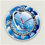 壁掛け時計/デザインクロック 【エラスモサウルス】 直径30cm アクリル素材 『MYCLO』 〔インテリア雑貨 贈り物 什器〕の詳細ページへ