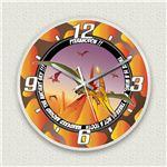 壁掛け時計/デザインクロック 【プテラノドン】 直径30cm アクリル素材 『MYCLO』 〔インテリア雑貨 贈り物 什器〕の詳細ページへ