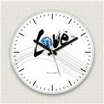 壁掛け時計/デザインクロック 【ラブアース】 直径30cm アクリル素材 『MYCLO』 〔インテリア雑貨 贈り物 什器〕の詳細ページへ