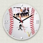 フォトフレーム時計/デザインクロック 【野球】 幅30cm アクリル製 L版 『MYCLO』 〔送別品 記念品 贈り物〕の詳細ページへ