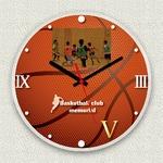 フォトフレーム時計/デザインクロック 【バスケ】 幅30cm アクリル製 L版 『MYCLO』 〔送別品 記念品 贈り物〕