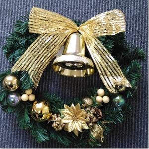 クリスマスリース 30CM ゴールド