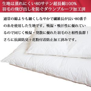 ハンガリー産ホワイトマザーグースダウン使用 二層式日本製羽毛布団(DL)プレミアムゴールド