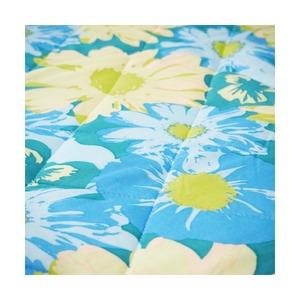 超COOL 接触冷感 敷パッド/寝具 【花柄 シングルサイズ】 洗える 軽量 『COLD BLUE』 〔寝室 ベッドルーム〕