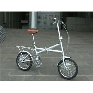 Heaven's パステルカラーXタイプ 16インチ折畳み自転車 シルバー
