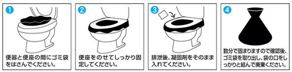 非常用トイレ「セルレット」 【凝固剤 50回分】 (防災/アウトドア/ドライブ/介護)