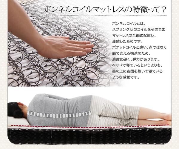 収納ベッド シングル【Fleur】【ボンネル...の説明画像14