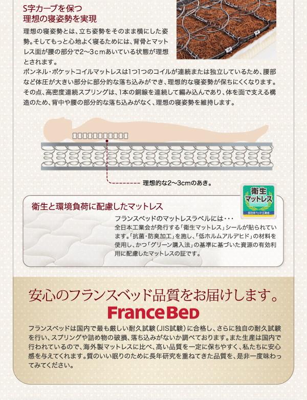 収納ベッド シングル【Fleur】【ボンネル...の説明画像17