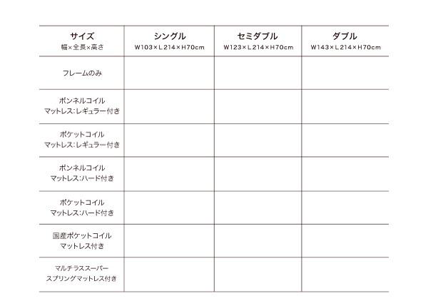 収納ベッド シングル【Fleur】【ボンネル...の説明画像22