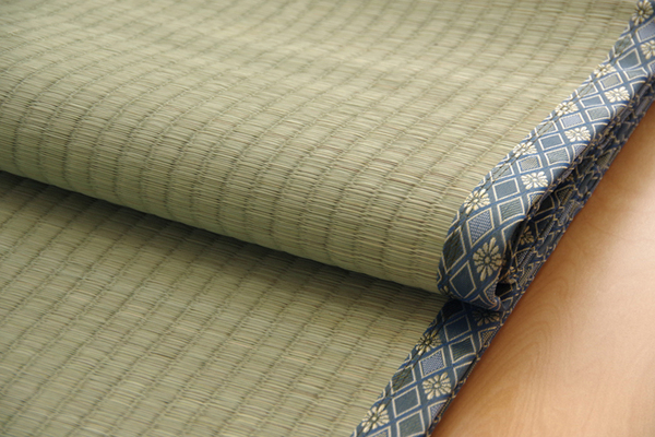純国産/日本製 糸引織 い草上敷 『柿田川』 三六間3畳(約182×273cm)