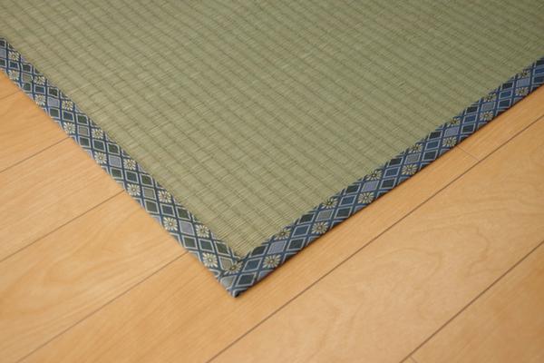 純国産/日本製 糸引織 い草上敷 『柿田川』 三六間8畳(約364×364cm)