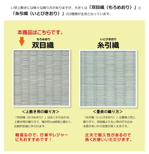 純国産/日本製 双目織 い草上敷 『松』 本間6畳(約286×382cm)