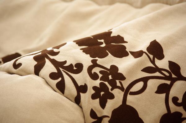 スエード生地 こたつ厚掛け布団単品 『ミラージュ』 ブラック 205×205cm