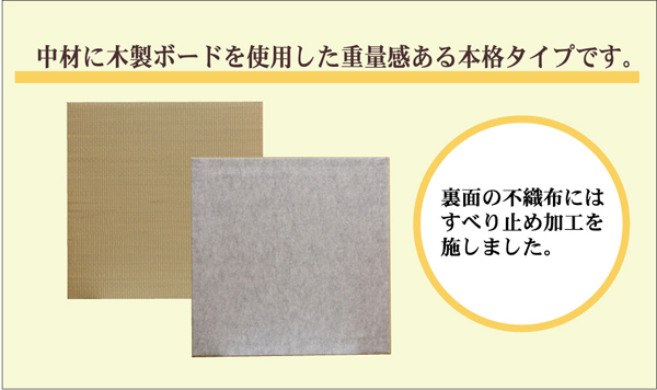 七島い草使用 ユニット畳 ジョイントマット 『琉球畳20mm』 82×82×2.0cm(4枚1セット)