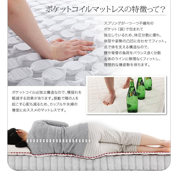 【組立設置費込】収納ベッド セミダブル【ポケ...の説明画像24