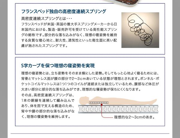 【組立設置費込】収納ベッド セミダブル【ポケ...の説明画像29