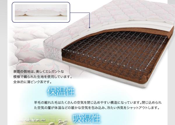 【組立設置費込】収納ベッド セミダブル【ポケ...の説明画像32