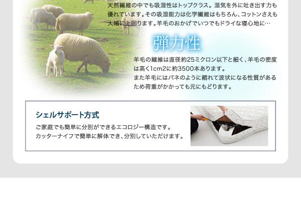 【組立設置費込】収納ベッド セミダブル【ポケ...の説明画像33