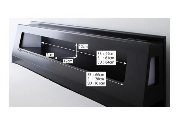【組立設置費込】収納ベッド セミダブル【ポケ...の説明画像36