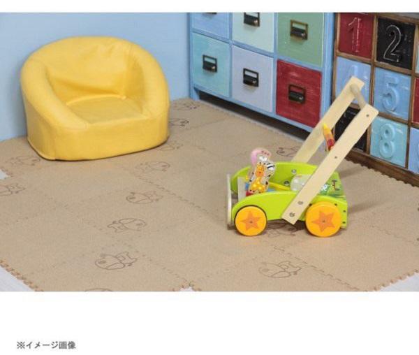 コルクマット(犬柄) 30cm 9枚組 厚さ8mm (防音/寒さ対策/汚れ/ケガ防止)