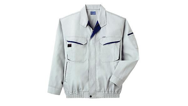 空調服 綿・ポリ混紡長袖作業着 K-500N 【カラー:ネイビー サイズ:LL】 電池ボックスセット