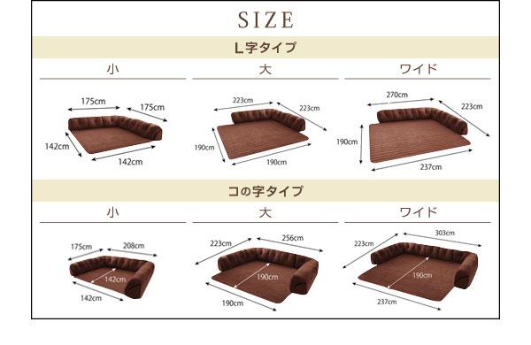 ソファー 40mm厚 ブラック L字タイプ 小 こたつに合わせるフロアコーナーソファ