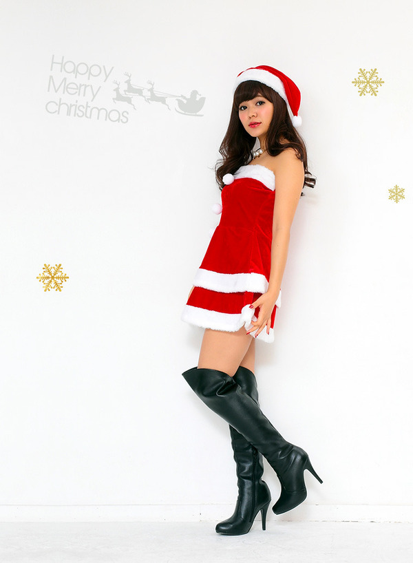 サンタ コスプレ セクシー 【Peach×Peach  エレガントサンタクロース チューブトップ】 サンタ 衣装