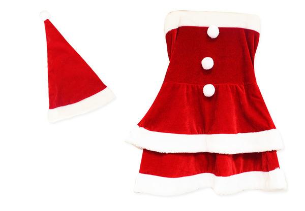 サンタ コスプレ セクシー まとめ買い 【Peach×Peach  エレガントサンタクロース チューブトップ Mサイズ (×3着セット)】 クリスマスコスプレ サンタクロース衣装