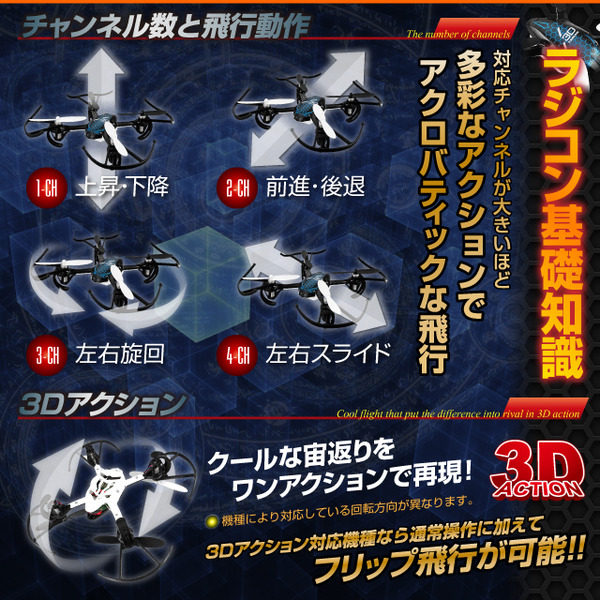 【RCオリジナルシリーズ】ラジコン クアッドコプター ドローン 2.4GHz 4CH対応  6軸ジャイロ搭載 飛行 走行 壁登り 3WAYアクション 『SKY WALKER』 (OA-325G)